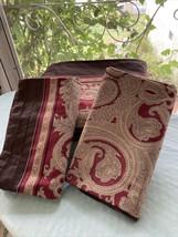 Charisma Orlando King 4 Pcs Duvet Shams Skirt Set Ruby Red Brown Paisley - $222.75