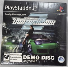 Need for Speed Underground 2 PlayStation 2 2004 Pre-Release Demo Disco Sealed - $68.59