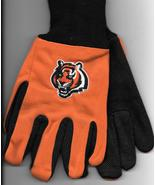 Cincinnati Bengals team Sport Utility Gloves orange blk garden NFL Footb... - $17.77