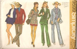 Vintage 1971 Pants, Shorts & Jacket Misses Size 14 Pattern Simplicity 95... - $4.99