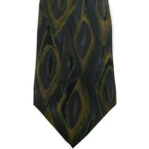 Zylos by George Machado Men's Necktie 100%  Tan/Taupe/Purple Blue - $6.71