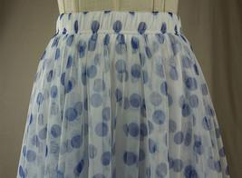 Women Polka Dot Skirt High Waisted Full Circle Tulle Skirt Polka Dot Party Skirt image 12