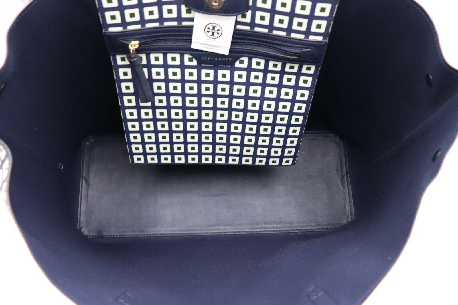 NWT Tory Burch Kerrington Square Tote Green Milano Shoulder Bag New  $298 image 4