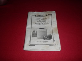 Breadman Bread Machine Instruction Manual & Recipes Guide  TR520  - $9.49