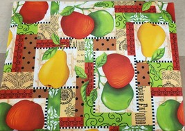 "Printed Fabric Tablecloth (60"" x 84"") Oblong, APPLES & PEARS, Royal Trading - $17.81"