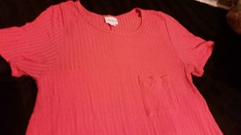 Lularoe Solid Clingy Coral Ribbed Carly Great color! - $45.00
