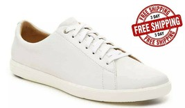 Brand New! Cole Haan Men's Grand Crosscourt II Sneaker, White Leather - $79.99