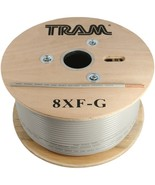 Tram 8XF-G RG8X 500ft Roll Tramflex Double Shield Coaxial Cable with Gra... - $161.43