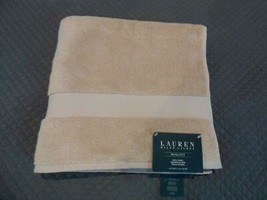 "$27.00 Lauren Ralph Lauren Wescott bath towel 30"" x 56"", Soft Ochre - $7.87"