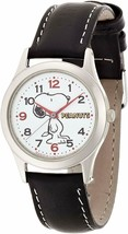 SNOOPY Wristwatch CITIZEN Q&Q Character watch Analog Black Rare Cute Gift - $33.55