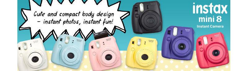 Minnie Mouse FujiFilm Fuji Instax Mini 8 Instant Photos Films Polaroid Camera