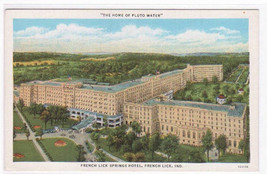 French Lick Springs Hotel French Lick Indiana 1940s postcard - $5.94