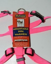 Valhoma 733 HP 3/4 inch Adjustable Dog Harness Hot Pink Medium Nylon Pkg 1 image 2