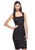 NWT WOMEN JAX Sleeveless  Lace Black/Nude Sheath Dress size 2 $198 - $47.95