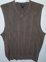 Dockers Pullover Sweater Vest Mens Size L Solid Gray Grey GUC - $1.97