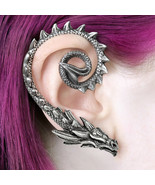 Alchemy Gothic Ostrogoth Dragon Earwrap Right Earring Pewter Ear Wrap E4... - $24.95