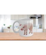 Pig Mug Print Photo Cute Domestic Pink Piglet Birthday Valentines Christ... - $14.65+