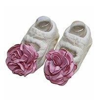 [Beige] Creative and Cute Baby Girls Socks Low Cut Socks, 2 Pairs