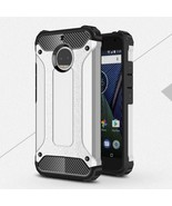 For Motorola Moto G5S Plus Armor Guard PC + TPU Hybrid Cover - Silver - $4.16