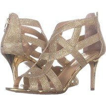Marc Fisher Nala3 Strappy Dress Sandals 322, Gold Multi, 8 US - $25.91
