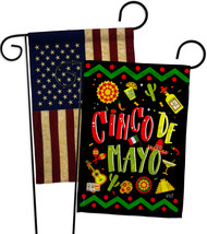 Ready to Cinco de Mayo - Impressions Decorative USA Vintage - Applique Garden Fl - $30.97