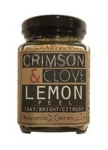 Granulated Dried Lemon Peel By Crimson and Clove 1.7 Oz.