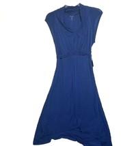 Kensie Women Sheer  Tee Cap Sleeve High-Low Dress Midnight Sapphire Medium - $71.17