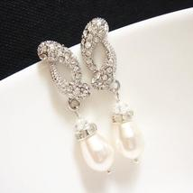 Swarovski Pearl Rhinestone Earrings - $25.00+