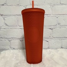 New Starbucks Holiday Tumbler 2020 Red SOFT Touch Studded 24oz Venti - $56.10