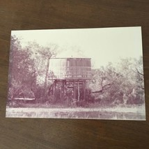 """Vintage Photo Of Water Tank 1940s surrounded by trees size 8"""" x 11.5"""" - $7.69"""