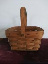 Vintage Longaberger Square Basket With Swing Handle 1987 - $28.04