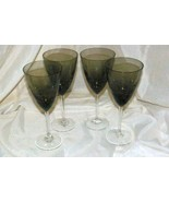 Noble Excellence Sparkle And Shine Set Of 4 Smoke Crackle Glass Wine Gla... - $27.08