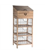 Metal & Wood Storage Chest  Stand 3 Drawers Home Shelves,Bath,Office,15'... - $391.05