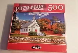 PuzzleBug New England Church Jigsaw Puzzles Country White Church 500 pcs... - $10.89