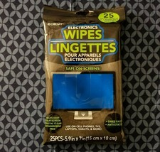 E-Circuit Pre-Moistened Electronics Wipes 25-ct for LCD Screens Laptops Phones