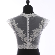 Deep V Illusion Neckline Lace Tops Sleeveless Empire Style Lace Bridesmaid Tops image 2