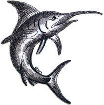 Nature's Bounty Beautiful Custom Fish Sketch[Marlin Fish ] Embroidered I... - $6.92