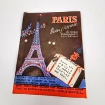 Paris Hotels 1958 Brochure Black Blue Red Tourism Booklet English Ephemera - $84.95