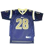 Marshall Faulk St. Louis Rams #28 Blue Reebok NFL Football Jersey Youth ... - $9.49