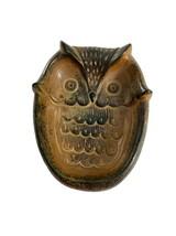 Vintage Ceramic Owl Soap Trinket Dish Spoon Rest Brown Retro Made in Jap... - $14.85