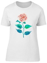 Big Pink Rose Hand Painted Women's Tee -Image by Shutterstock - $9.86+