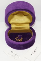 New $725 Auth Gucci 18K Yellow Gold Double Ring Set Size 6 w/BOX - Italy - $373.99