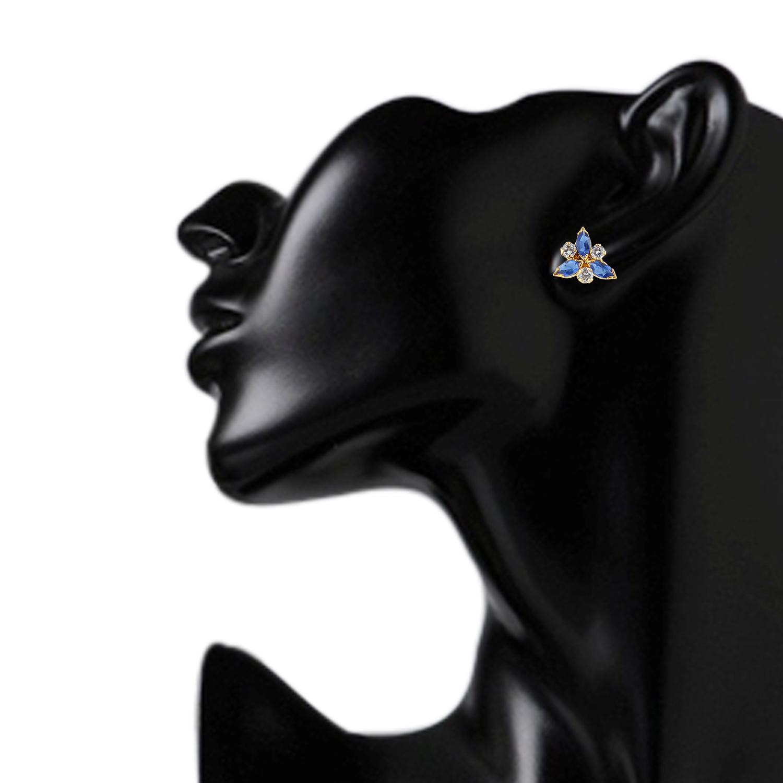 Efulgenz Cubic Zirconia Cubic Zirconia Stone Stud Earring for women