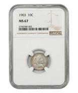 1903 10c NGC MS67 - Beautiful Superb Gem - Barber Dime - Beautiful Super... - $4,626.90
