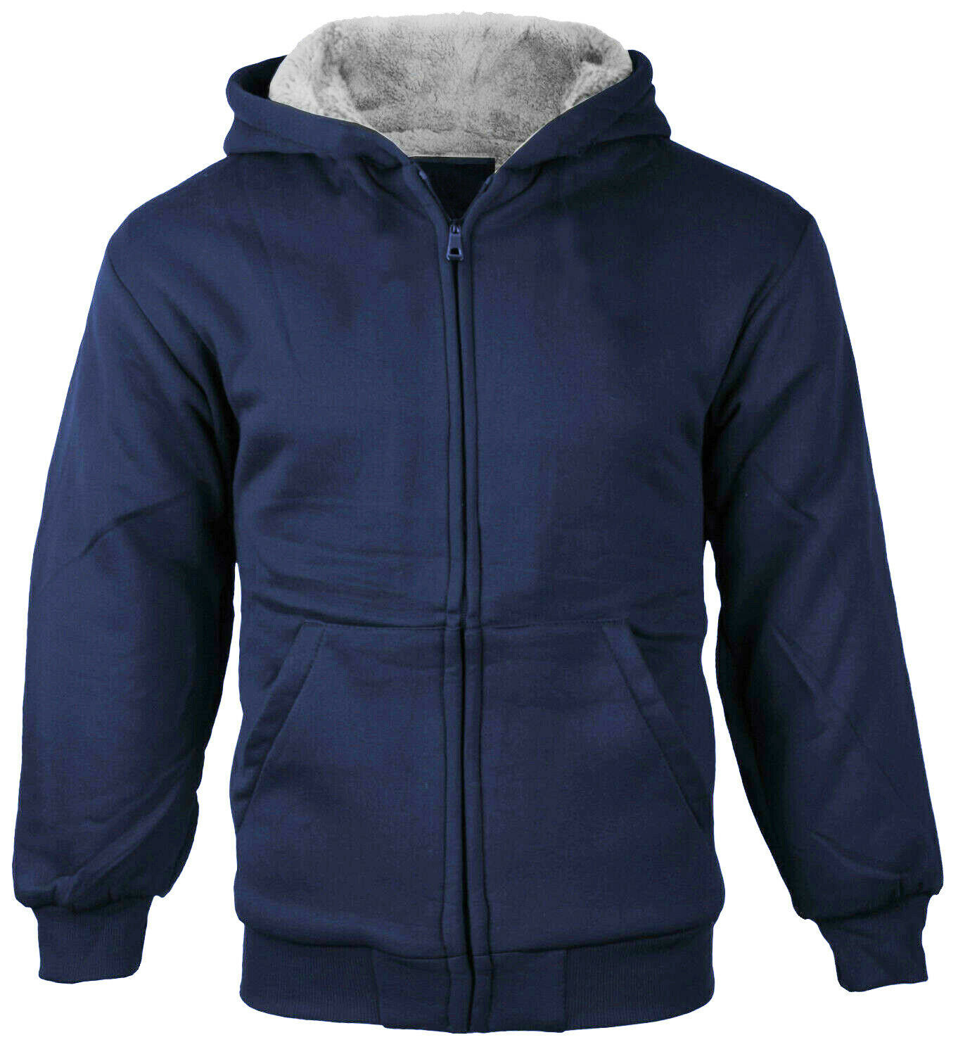 Boys Kids Toddler Athletic Sherpa Fleece Zip Hoodie Sweater Jacket w/ Defect  M