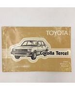 1982 Toyota Corolla Tercel Owners Manual Original Guide Glove Box Book 3... - $14.95