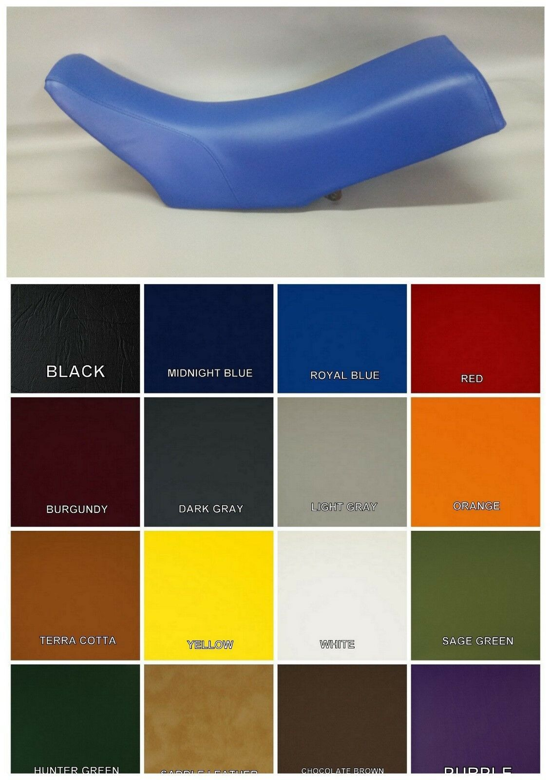 Primary image for Yamaha YZ Seat Cover YZ490  1983 1984 1985  in ROYAL BLUE or 25 Colors