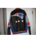 NE PATRIOTS REAL LEATHER  JACKET(M) EMBRIODED! SALE! SUPER BOWL CHAMPIONS! - $79.99