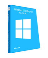 Windows 10 Enterprise 50 PC 64bit and 32 bit - $95.00