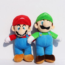1Pcs-New Super Mario Bros. Stand LUIGI & MARIO Plush Doll Stuffed Toy 25CM - $11.00